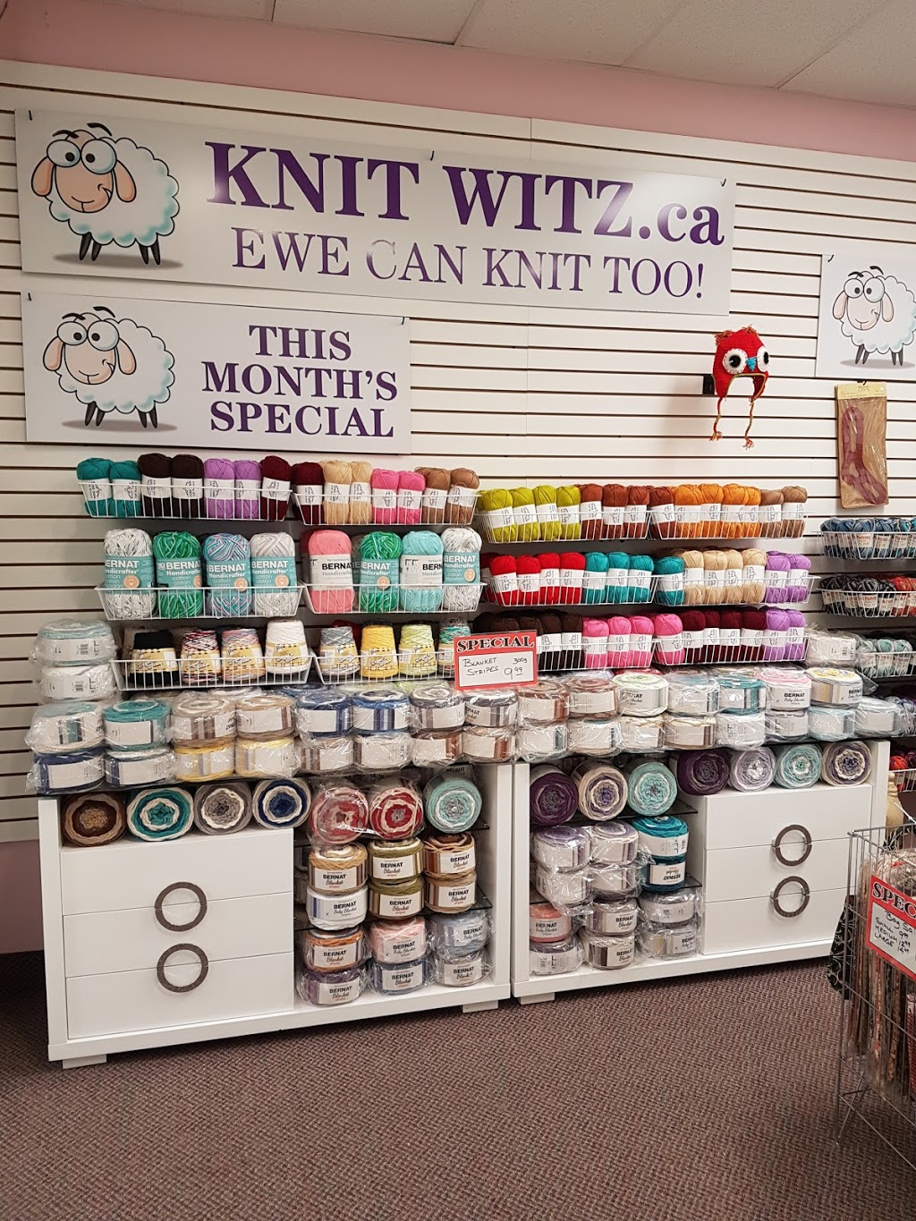 Knit Witz | store | 320 Bayfield St, Barrie, ON L4M 3C1, Canada | 7059843050 OR +1 705-984-3050