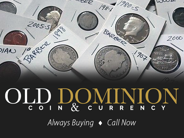 Old Dominion Coin & Currency | jewelry store | 3125 N Service Rd, Vineland Station, ON L0R 2E0, Canada | 9053582345 OR +1 905-358-2345