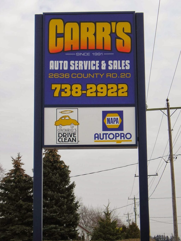 Carrs Auto Service & Sales | car repair | 2636 County Rd 20 E, Harrow, ON N0R 1G0, Canada | 5197382922 OR +1 519-738-2922