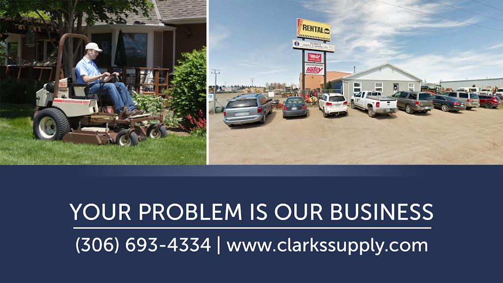 Clarks Supply & Service Ltd | point of interest | 1650 Stadacona St W, Bushell Park, SK S0H 0N0, Canada | 3066934334 OR +1 306-693-4334