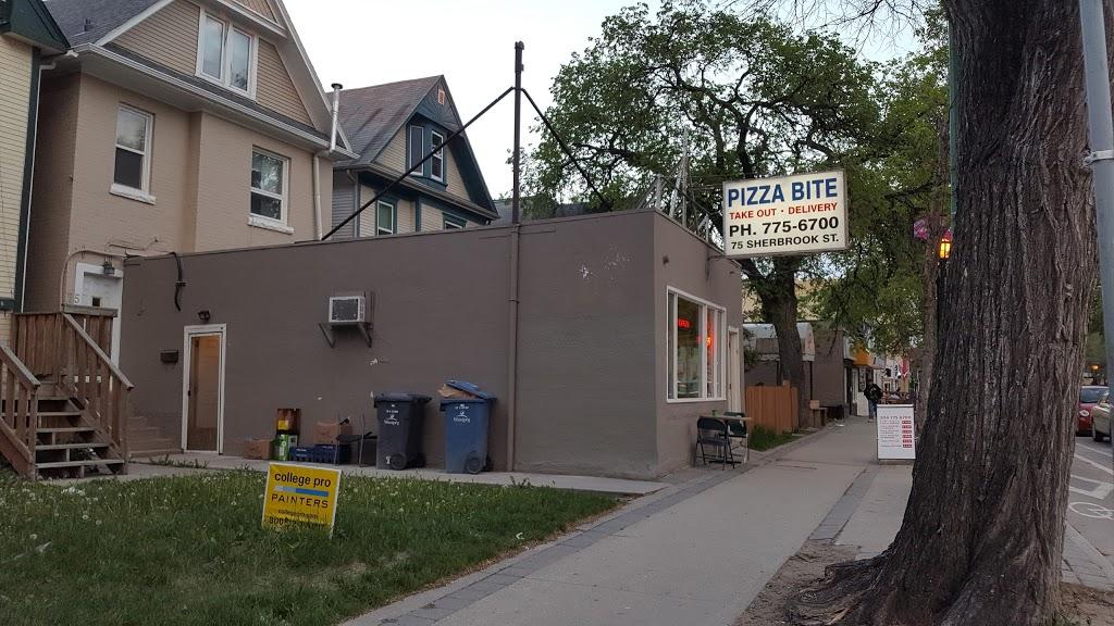 Pizza Bite Restaurant | restaurant | 75 Sherbrook St, Winnipeg, MB R3C 2B2, Canada | 2047756700 OR +1 204-775-6700