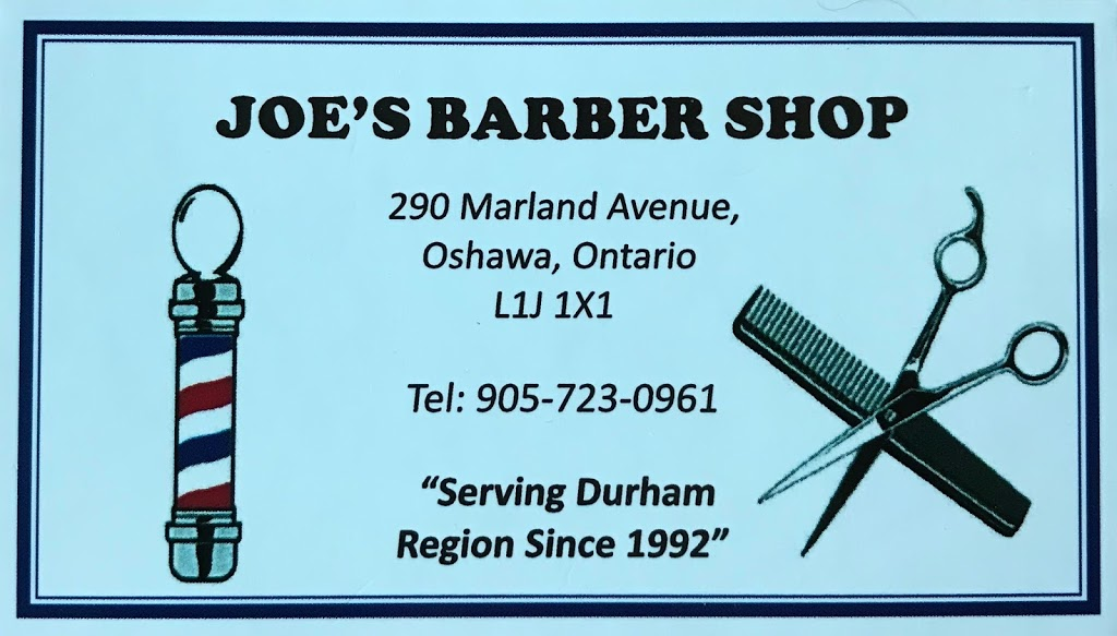 Joes Barber Shop | hair care | 290 Marland Ave, Oshawa, ON L1J 1X1, Canada | 9057230961 OR +1 905-723-0961