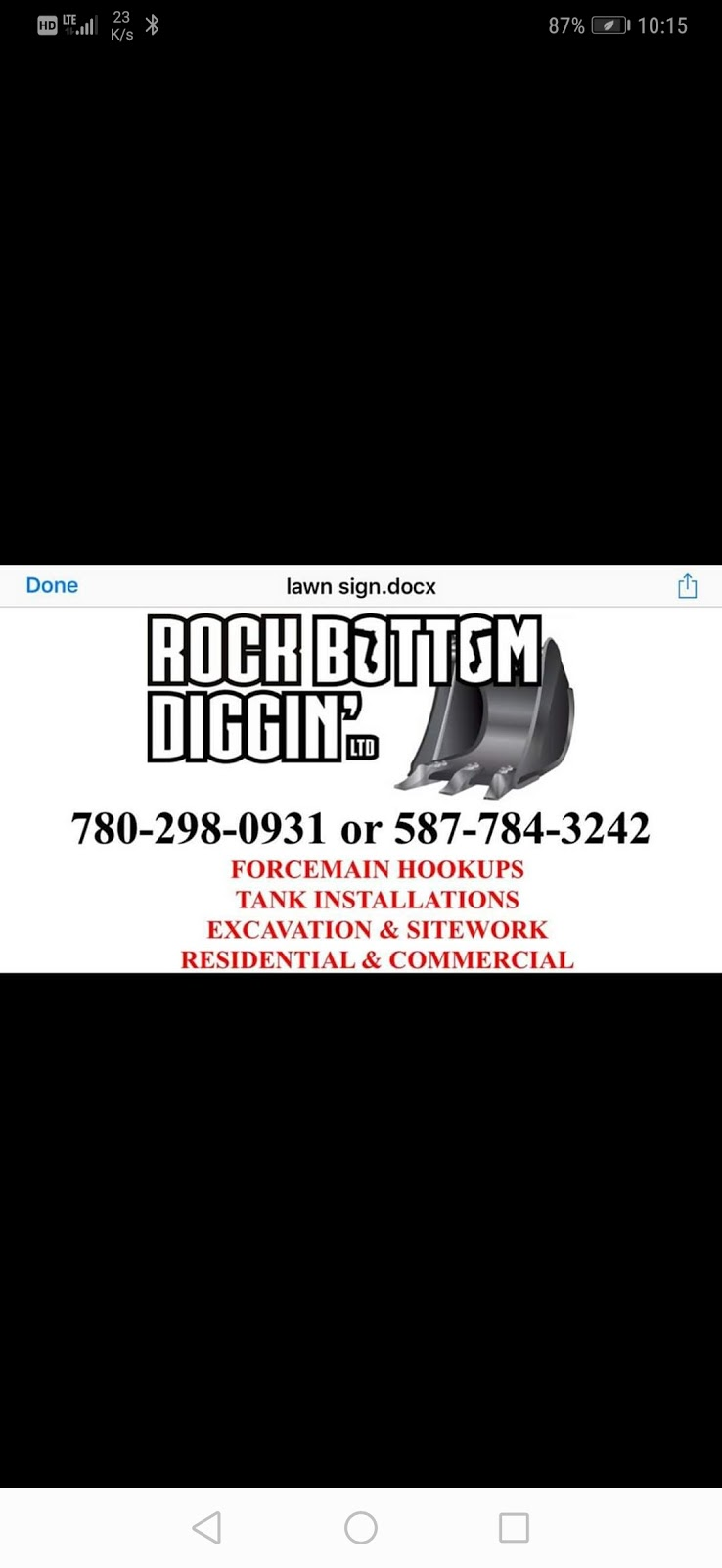 Rock Bottom Diggin LTD | point of interest | 66 Whitehall Rd, Parkland County, AB T7Y 0E4, Canada | 7802980931 OR +1 780-298-0931