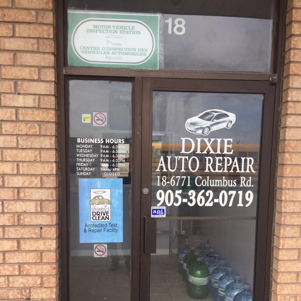 Dixie Auto Repair | car dealer | 6771 Columbus Rd #18, Mississauga, ON L5T 2G9, Canada | 9053620719 OR +1 905-362-0719