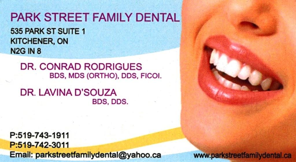 Park Street Family Dental | dentist | 535 Park St Suite 1, Kitchener, ON N2G 1N8, Canada | 5197431911 OR +1 519-743-1911