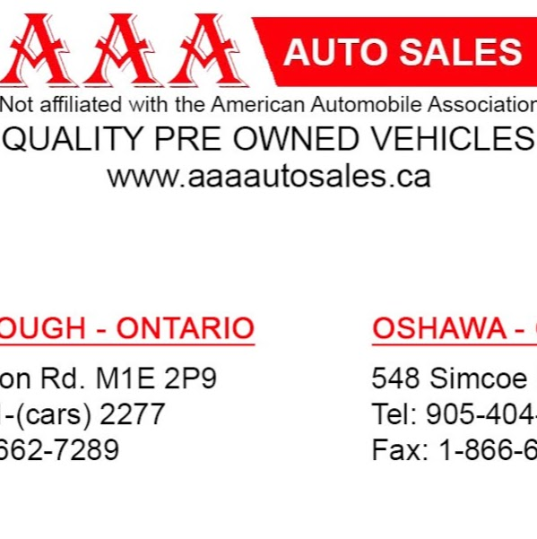 AAA Auto Sales Ltd. | car dealer | 548 Simcoe St S, Oshawa, ON L1H 0A6, Canada | 9054042277 OR +1 905-404-2277