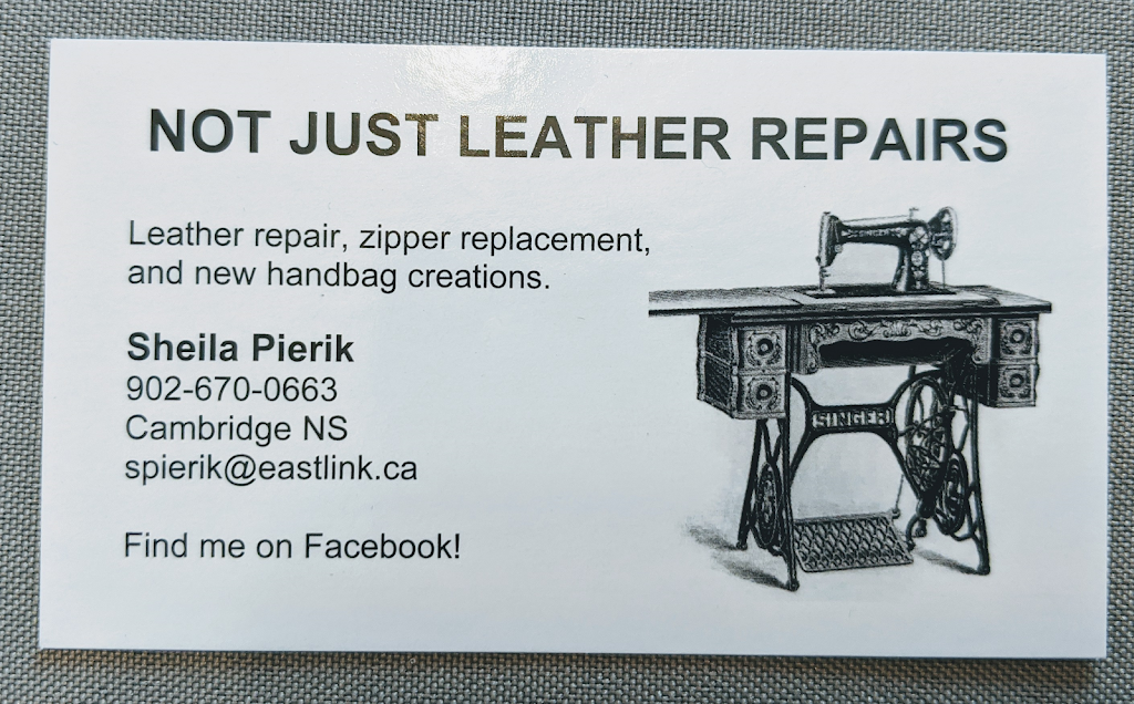 Not Just Leather Repairs   store   701 Cambridge Rd, Cambridge, NS B0P 1G0, Canada   9026700663 OR +1 902-670-0663