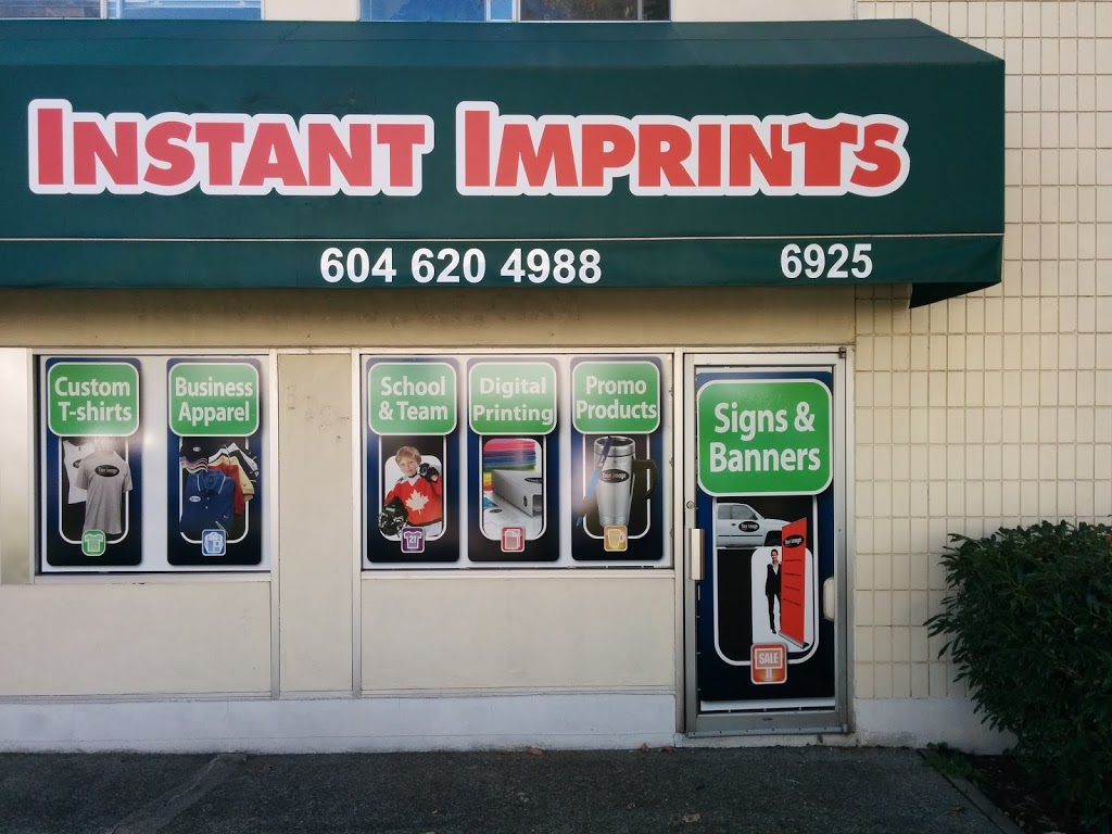Instant Imprints Burnaby | clothing store | 6925 Antrim Ave, Burnaby, BC V5J 4M5, Canada | 6046204988 OR +1 604-620-4988