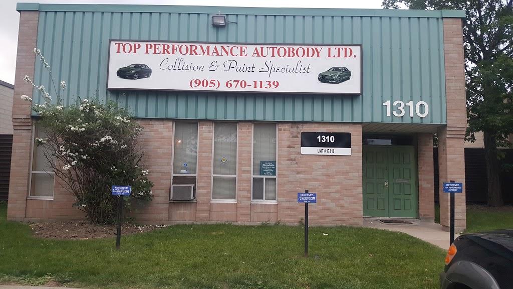 Top Performance Autobody Ltd | car repair | 1310 Britannia Rd E, Mississauga, ON L4W 1C8, Canada | 9056701139 OR +1 905-670-1139