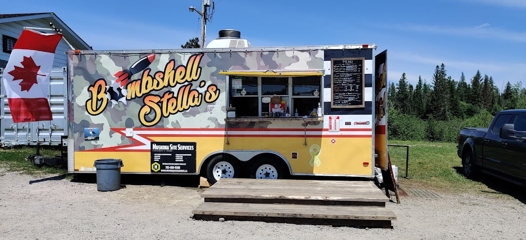 Bombshell Stellas chip truck   restaurant   Hwy 518 E &, Emsdale Rd, Emsdale, ON P0A 1J0, Canada   6478888348 OR +1 647-888-8348