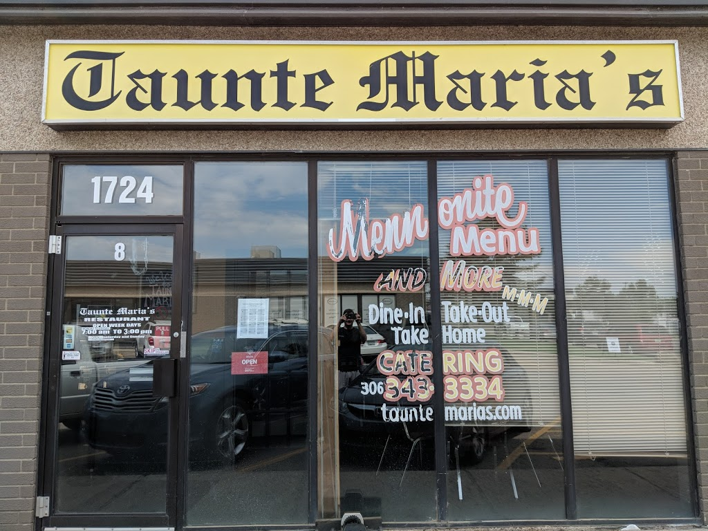 Taunte Maria's Mennonite Restaurant   restaurant   8-1724 Quebec Ave, Saskatoon, SK S7K 1V9, Canada   3063433334 OR +1 306-343-3334