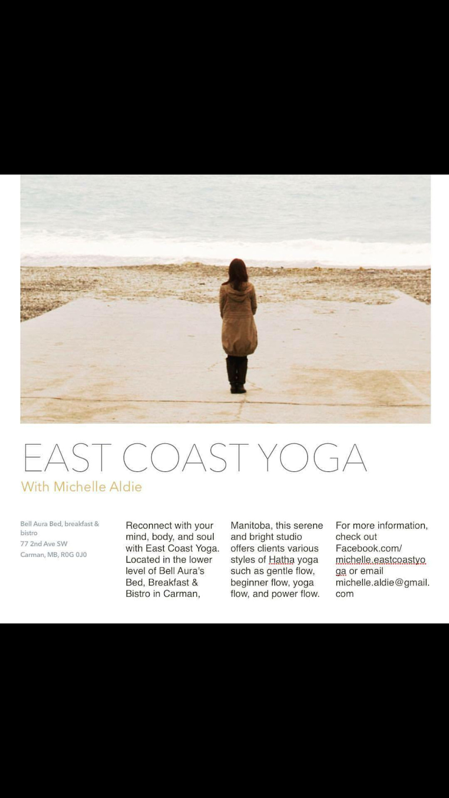 East Coast Yoga Carman Manitoba | gym | Box 145, 200 2nd St NE, Carman, MB R0G 0J0, Canada | 2049394353 OR +1 204-939-4353
