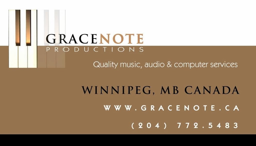 Gracenote Productions | electronics store | Newman St, Winnipeg, MB R3G 2V8, Canada | 2047725483 OR +1 204-772-5483