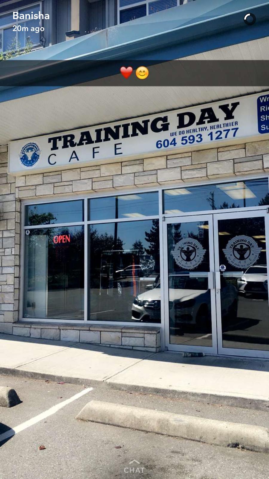 Training Day Cafe   cafe   8077 King George Blvd, Surrey, BC V3W 5B4, Canada   6045931277 OR +1 604-593-1277