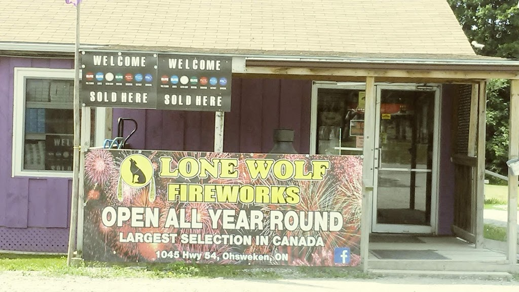 Lonewolf Fireworks and Pit stop | cafe | 1045 Brant County Hwy 54, Ohsweken, ON N0A 1M0, Canada | 5197703628 OR +1 519-770-3628