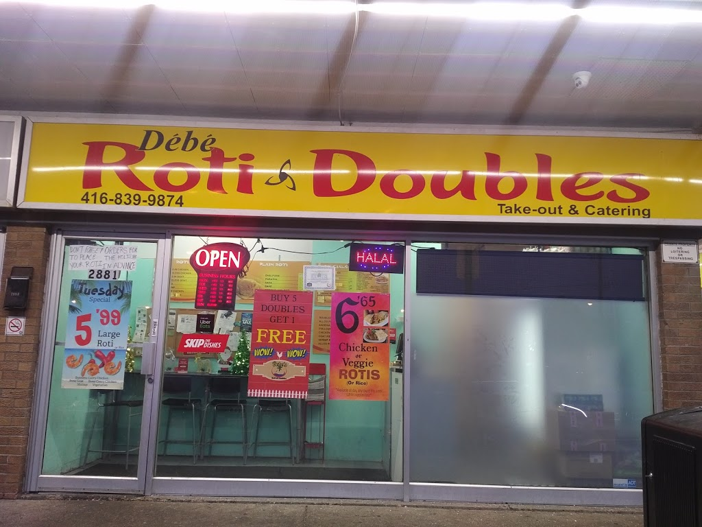 Debess Roti and Doubles | restaurant | 2881 Jane St, North York, ON M3N 2J5, Canada | 4168399874 OR +1 416-839-9874