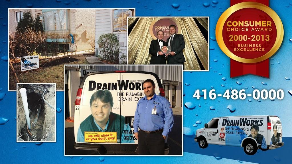 DrainWorks Plumbing | home goods store | 46 Fieldway Rd Unit #7, Etobicoke, ON M8Z 3L2, Canada | 4164860000 OR +1 416-486-0000