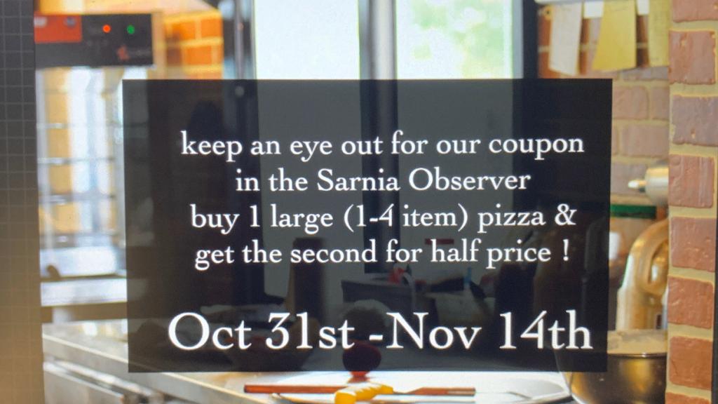 Bellas pizza   restaurant   1836 St Clair Pkwy, Sarnia, ON N7T 8A7, Canada   5194911154 OR +1 519-491-1154