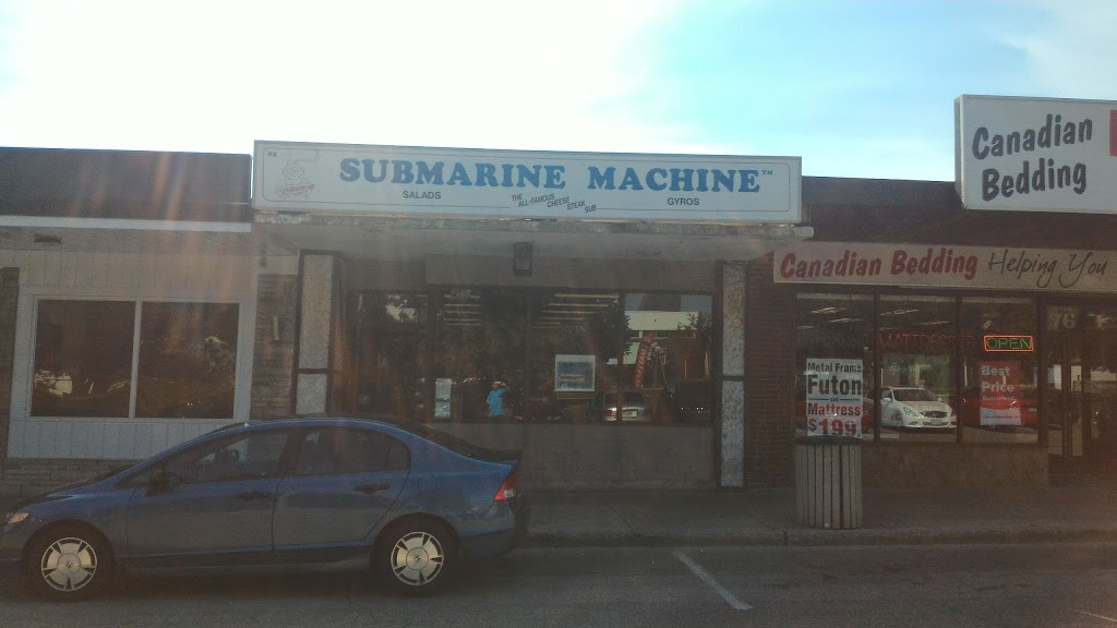 Submarine Machine | meal takeaway | 80 Harwood Ave S, Ajax, ON L1S 2H6, Canada | 9056868232 OR +1 905-686-8232