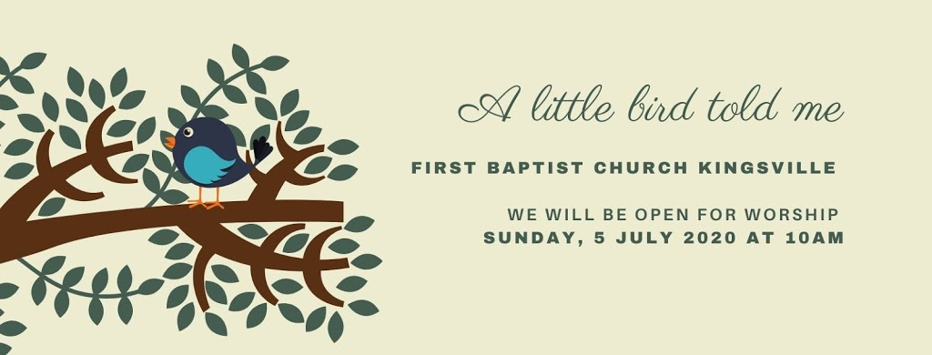 First Baptist Church, Kingsville | church | 58 Division St N, Kingsville, ON N9Y 2E8, Canada | 5197334144 OR +1 519-733-4144