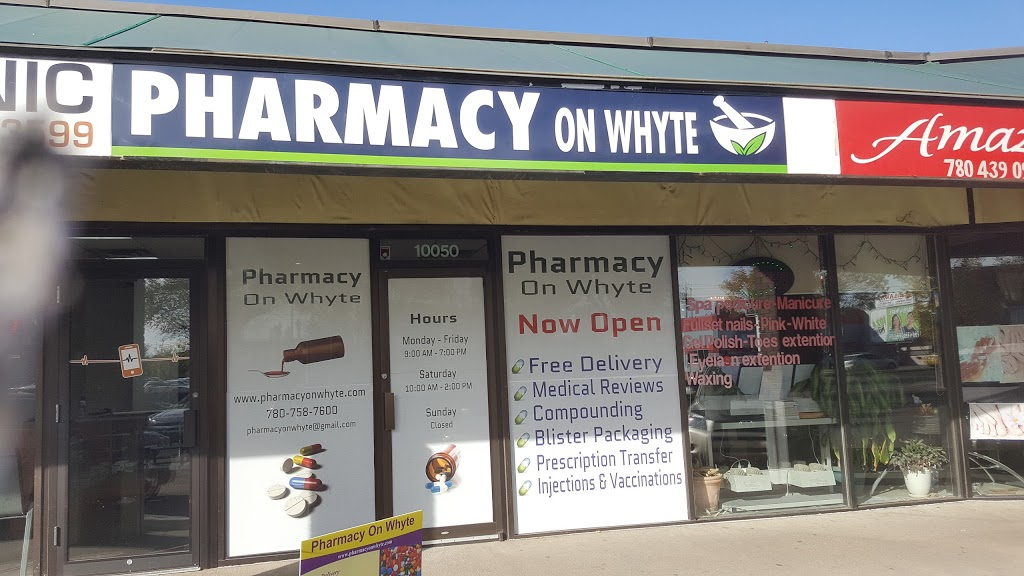 Pharmacy On Whyte | health | 10050 82 Ave NW, Edmonton, AB T6E 1Z3, Canada | 7807587600 OR +1 780-758-7600