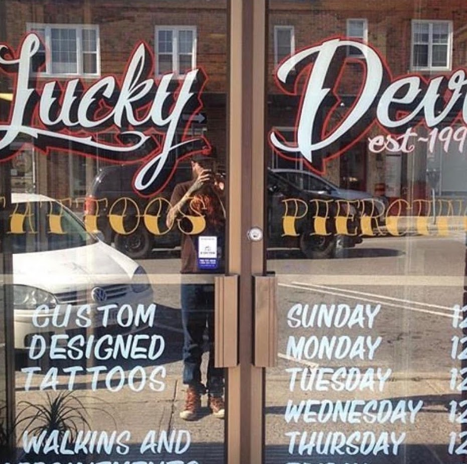 Lucky Devil Tattoos & Piercing | store | 18 Clapperton St, Barrie, ON L4M 0E8, Canada | 7057202202 OR +1 705-720-2202