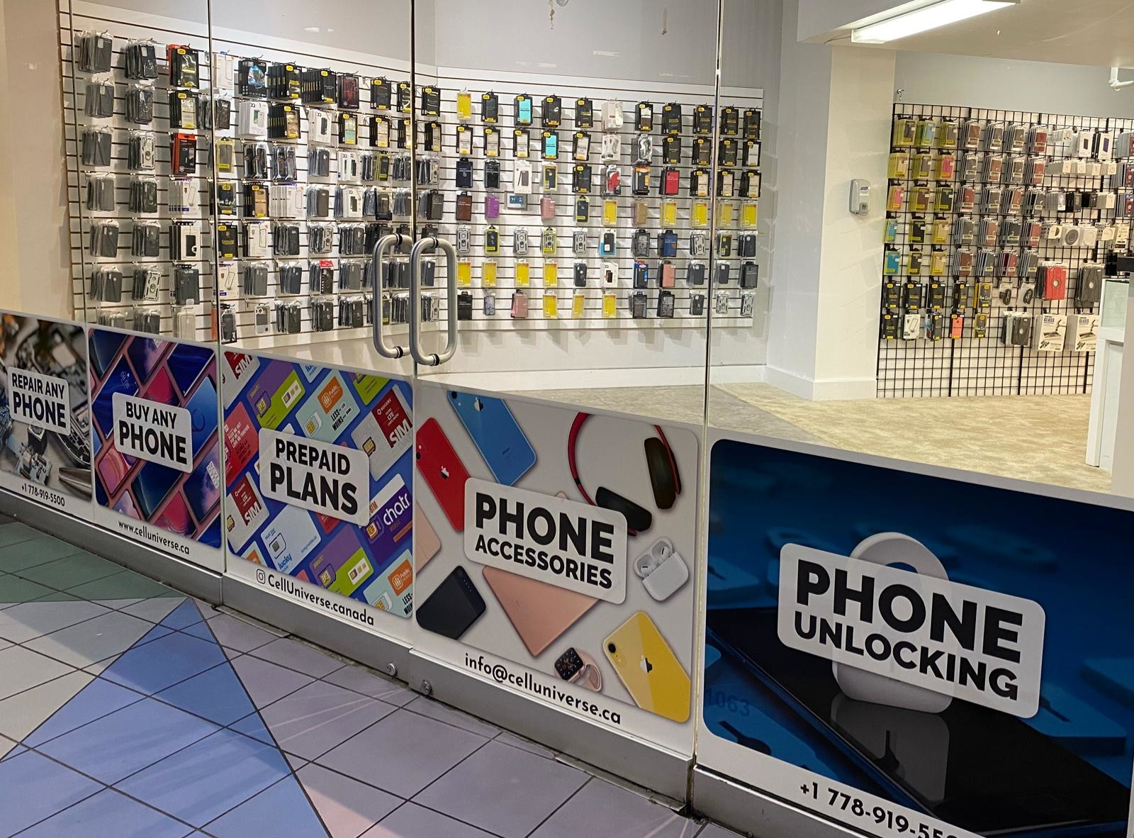 Cell Universe - Phone Repair | electronics store | 88 W Pender St Unit #1063, Vancouver, BC V6B 6N9, Canada | 7789195500 OR +1 778-919-5500