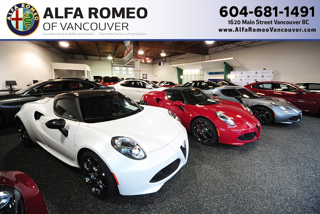 Alfa Romeo of Vancouver | car dealer | 1620 Main St, Vancouver, BC V6A 2W8, Canada | 6046841044 OR +1 604-684-1044