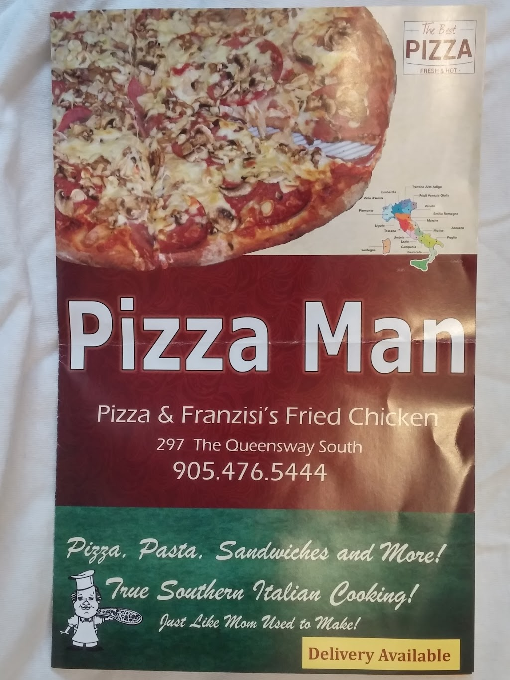 Franzisis Pizzaman | meal delivery | 297 The Queensway S, Keswick, ON L4P 2B5, Canada | 9054765444 OR +1 905-476-5444