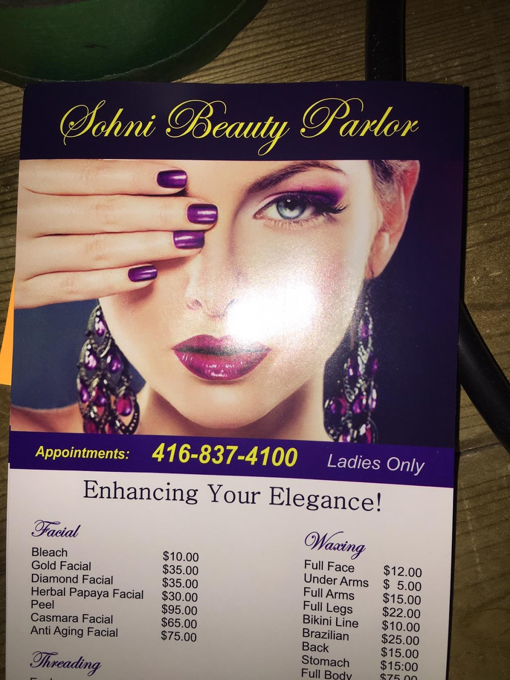 Sohni Beauty Parlor | hair care | 3 Gladiolus St, Brampton, ON L6Y 6C8, Canada | 4168374100 OR +1 416-837-4100