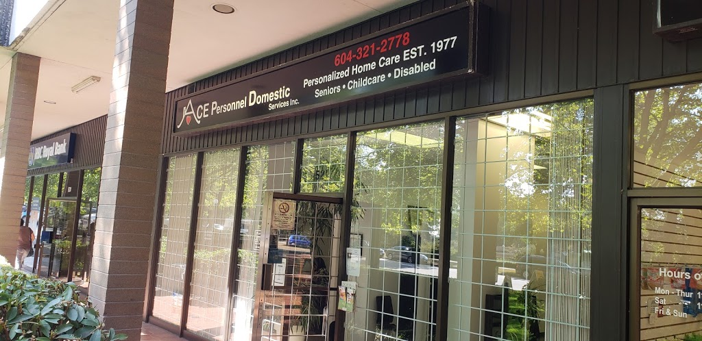 ACE Personnel Domestic Services Inc | health | 521 W 57th Ave, Vancouver, BC V6P 1R9, Canada | 6043212778 OR +1 604-321-2778