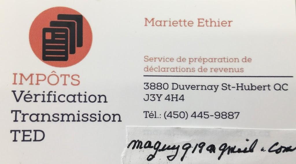 Mariette Ethier | point of interest | 3880 Rue Duvernay, Saint-Hubert, QC J3Y 4H4, Canada | 4504459887 OR +1 450-445-9887