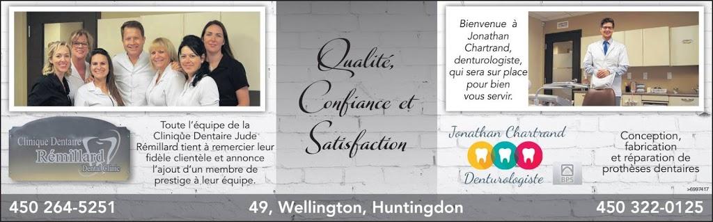 Centre Dentaire Jude Remillard | dentist | 49 Rue Wellington, Huntingdon, QC J0S 1H0, Canada | 4502645251 OR +1 450-264-5251