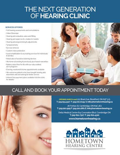 Hometown Hearing Centres | doctor | 221 Brant Ave, Brantford, ON N3T 3J3, Canada | 5197534327 OR +1 519-753-4327