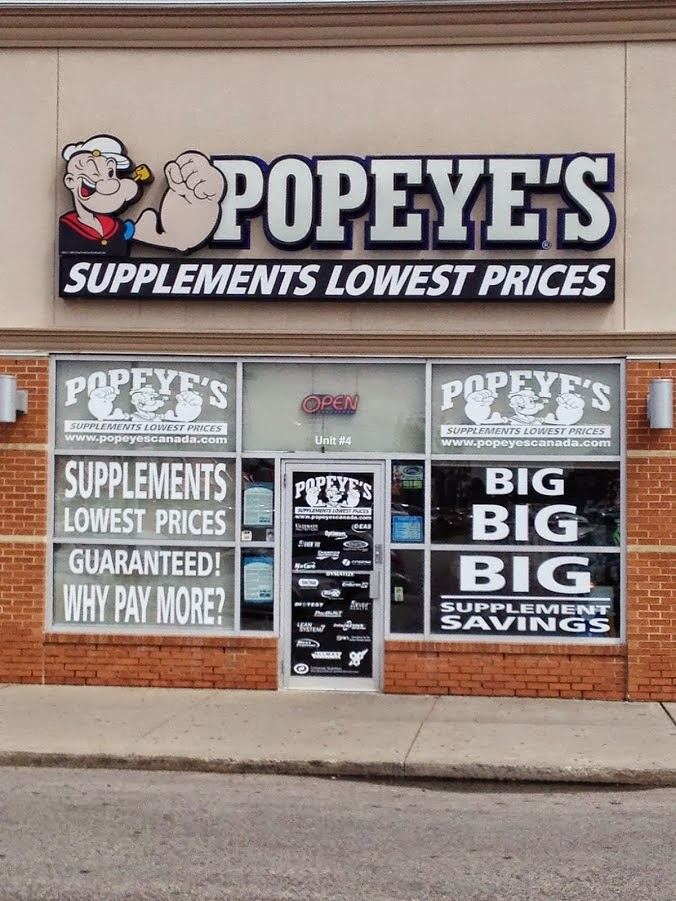 Popeyes Supplements Mississauga East   health   3100 Dixie Rd #1b, Mississauga, ON L4Y 2A6, Canada   2895210289 OR +1 289-521-0289