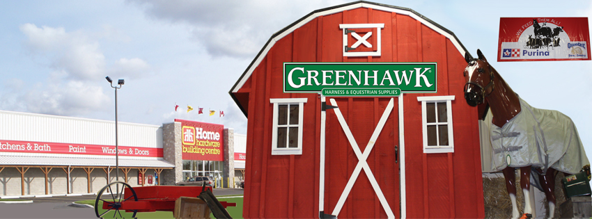 Greenhawk Harness and Equestrian Supplies located inside