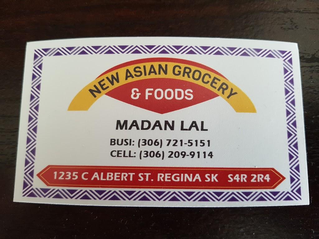 New Asian Grocery & Foods | store | 1235 C Albert St, Regina, SK S4R 2R4, Canada | 3067215151 OR +1 306-721-5151