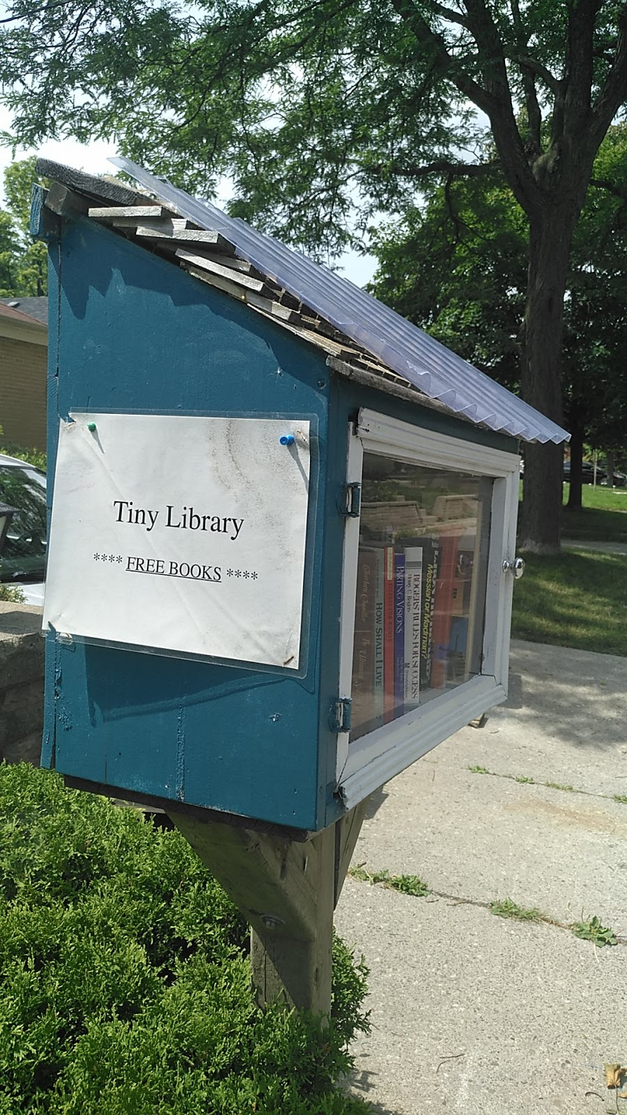 Tiny Library just a free books box on the street not a real libr | library | 143 Glendora Ave, North York, ON M2N 2W3, Canada