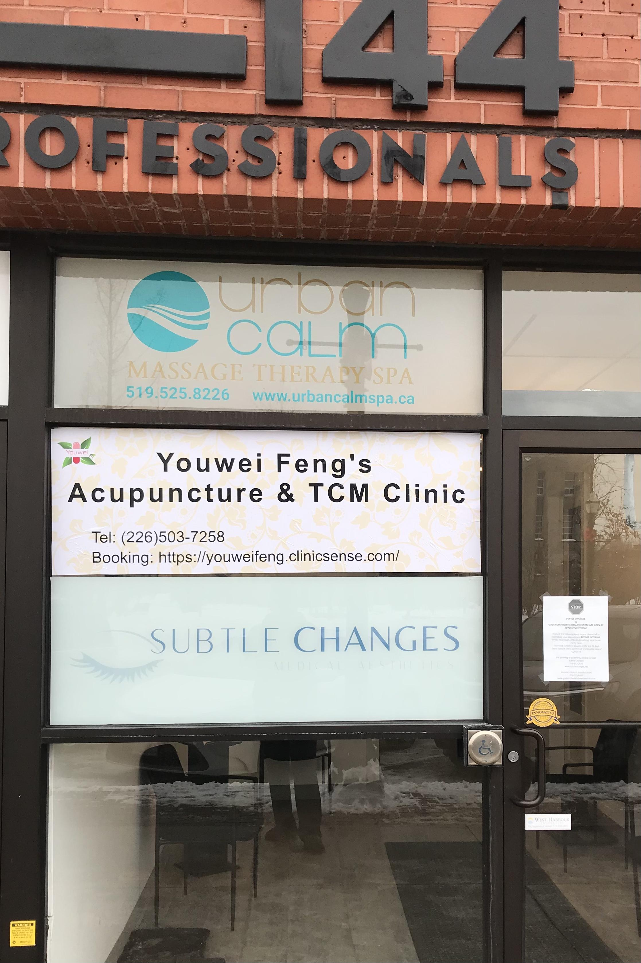 Youwei Feng's Acupuncture & TCM Clinic | health | 144 Courthouse Square, Goderich, ON N7A 1M9, Canada | 2265037258 OR +1 226-503-7258