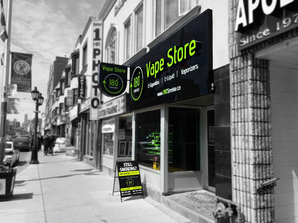 180 Smoke Vape Store   696 Danforth Ave, Toronto, ON M4J 1L1