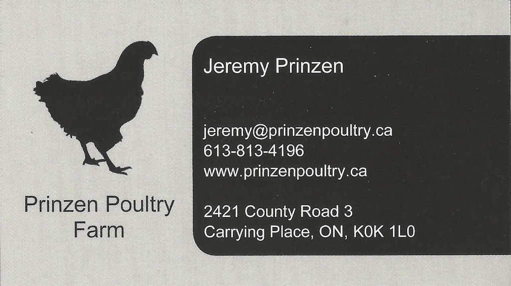 Prinzen Poultry Farm | restaurant | 2421 County Rd 3, Carrying Place, ON K0K 1L0, Canada | 6138134196 OR +1 613-813-4196