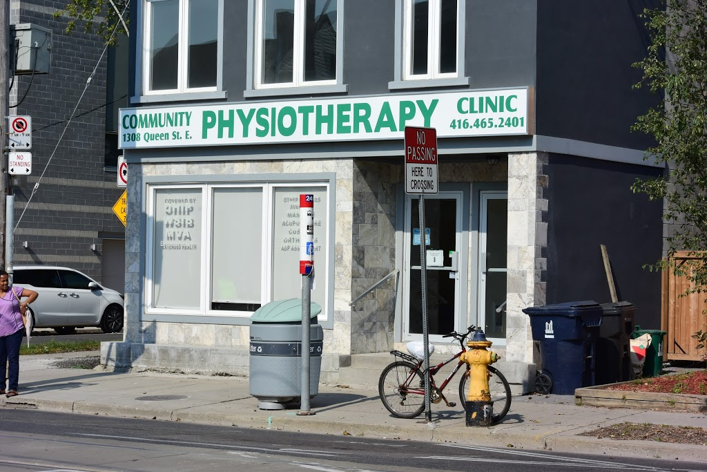 Community Physiotherapy Clinic | health | 1308 Queen St E, Toronto, ON M4L 1C5, Canada | 4164652401 OR +1 416-465-2401