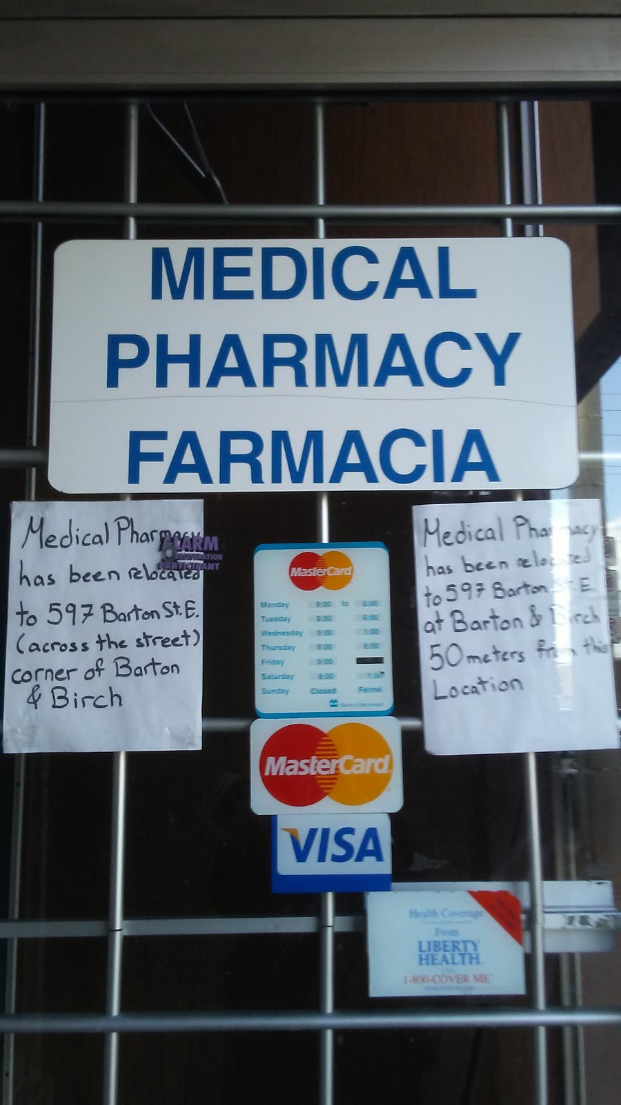 Medical Pharmacy/Farmacia | health | 597 Barton St E, Hamilton, ON L8L 2Z6, Canada | 9055272930 OR +1 905-527-2930