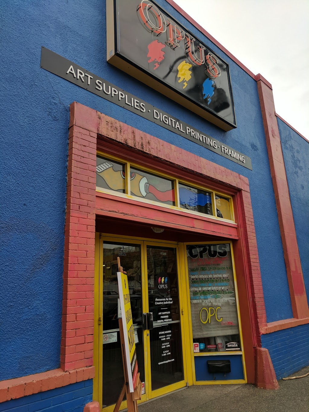Opus Art Supplies | store | 512 Herald St, Victoria, BC V8W 1S6, Canada | 2503868133 OR +1 250-386-8133