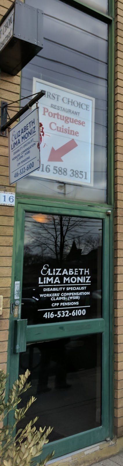 Elizabeth Lima Moniz | insurance agency | 1116 Dundas St W, Toronto, ON M6J 1X2, Canada | 4165326100 OR +1 416-532-6100