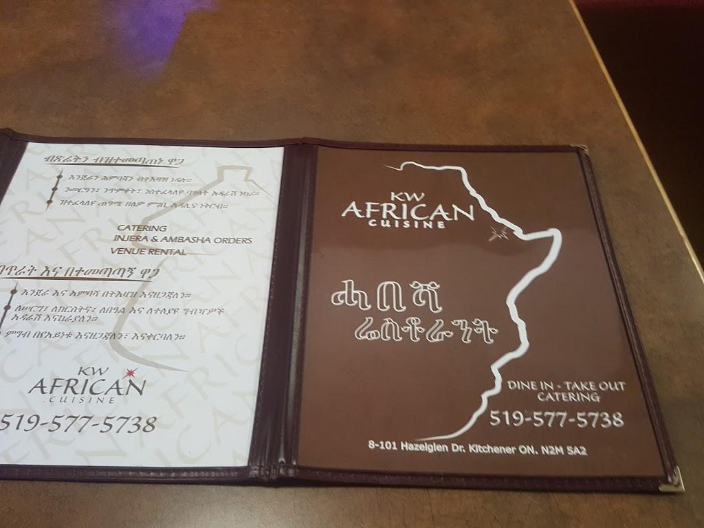KW African Cuisine   restaurant   101 Hazelglen Dr Unit 8, Kitchener, ON N2M 5A2, Canada   5195775738 OR +1 519-577-5738