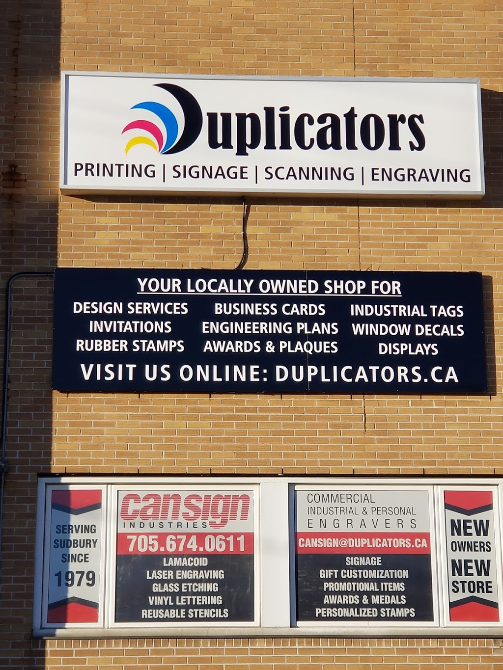 Can Sign Industries | store | 100 Brian McKee Ln, Sudbury, ON P3B 0A1, Canada | 7056740611 OR +1 705-674-0611