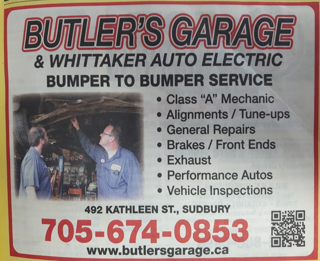 Whittaker Auto Electric | car repair | 492 Kathleen St, Sudbury, ON P3C 2N9, Canada | 7056753788 OR +1 705-675-3788