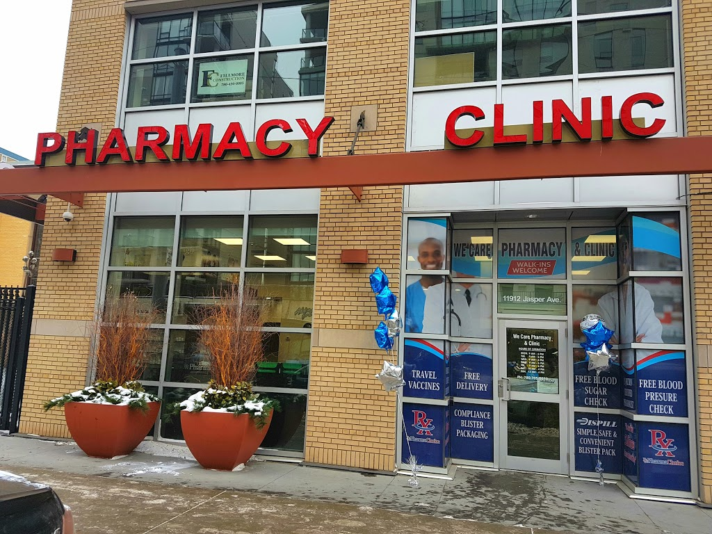 We Care Pharmacy & Clinic | health | 11912 Jasper Ave, Edmonton, AB T5K 0N9, Canada | 7807050070 OR +1 780-705-0070