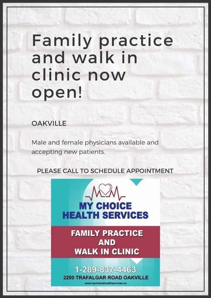 My Choice Health Services | doctor | 2200 Trafalgar Rd, Oakville, ON L6H 7H2, Canada | 2898374463 OR +1 289-837-4463